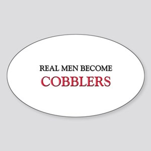 Real Men Become Cobblers Oval Sticker