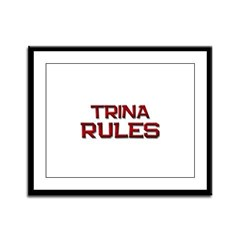 trina rules Framed Panel Print