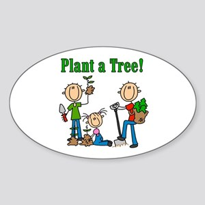 Plant a Tree Oval Sticker