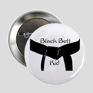 """Black Belt Kid 2.25"""" Button"""