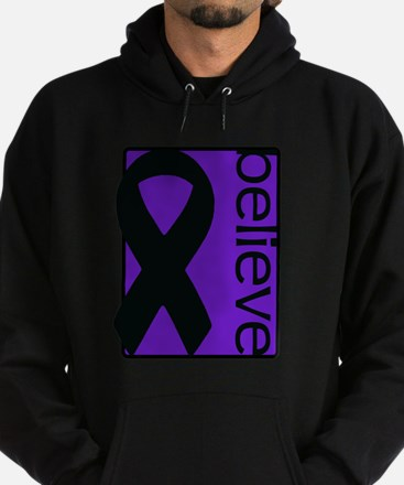 Purple (Believe) Ribbon Hoodie (dark)