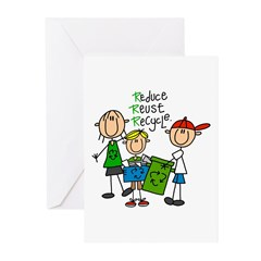 Reduce, Reuse, Recycle Greeting Cards (Pk of 10)