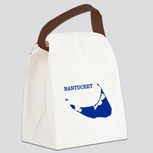 Nantucket Island - Blue Canvas Lunch Bag