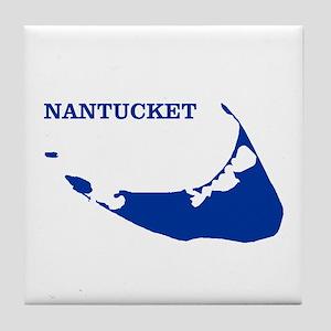 Nantucket Island - Blue Tile Coaster