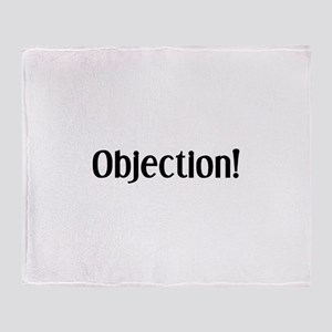 objection Throw Blanket