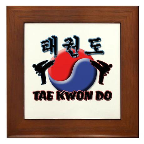 Tae Kwon Do Framed Tile