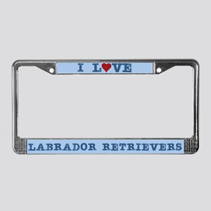 Love Heart Labrador Retriever License Plate Frame