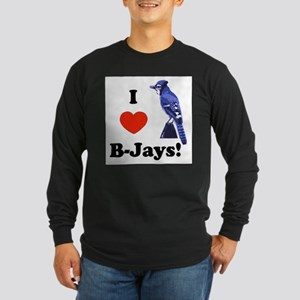 I Heart B-Jays! Long Sleeve Dark T-Shirt