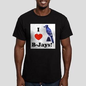 I Heart B-Jays! Men's Fitted T-Shirt (dark)