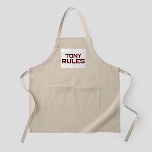 tony rules BBQ Apron