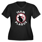 Team Plague Women's Plus Size V-Neck Dark T-Shirt