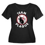 Team Plague Women's Plus Size Scoop Neck Dark T-Sh