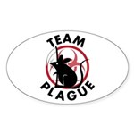 Team Plague Oval Sticker (10 pk)