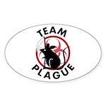 Team Plague Oval Sticker (10 pk)