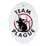 Team Plague Oval Ornament