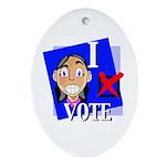 I Vote Oval Ornament