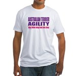 Australian Terrier Agility Fitted T-Shirt