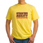 Australian Terrier Agility Yellow T-Shirt