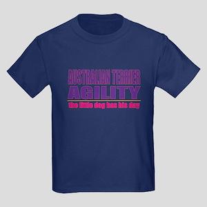 Australian Terrier Agility Kids Dark T-Shirt