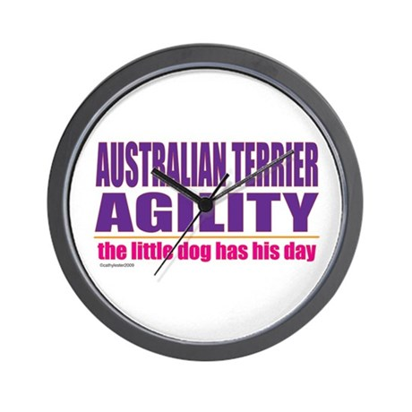 Australian Terrier Agility Wall Clock
