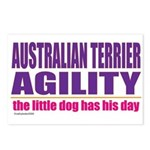 Australian Terrier Agility Postcards (Package of 8