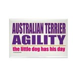 Australian Terrier Agility Rectangle Magnet (10 pa