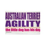 Australian Terrier Agility Rectangle Magnet