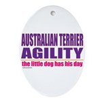 Australian Terrier Agility Oval Ornament