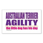 Australian Terrier Agility Rectangle Sticker