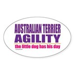 Australian Terrier Agility Oval Sticker