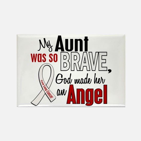 Angel 1 AUNT Lung Cancer Rectangle Magnet