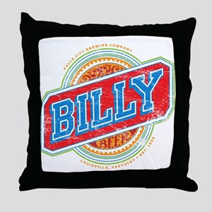 Billy Beer Throw Pillow