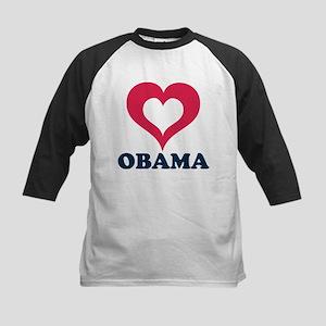 heart obama Kids Baseball Jersey