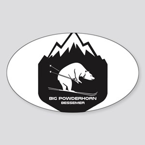 Big Powderhorn Ski Area - Bessemer - Mic Sticker