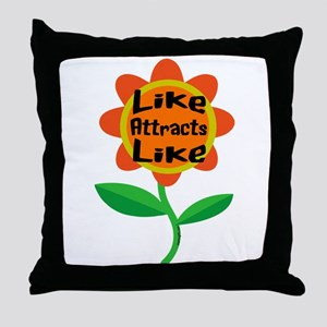 Law of Attraction Inspirational Quote Throw Pillow