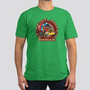 Cement Truck Driver Men's Fitted T-Shirt (dark)