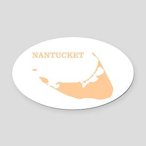 Nantucket Island Sand Oval Car Magnet