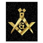 Masonic Master in the sky Small Poster