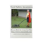 Yard Safety Awareness Rectangle Magnet