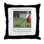 Yard Safety Awareness Throw Pillow