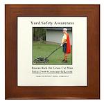Yard Safety Awareness Framed Tile