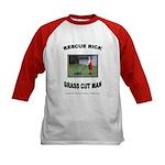 Yard Safety Awareness Kids Baseball Jersey