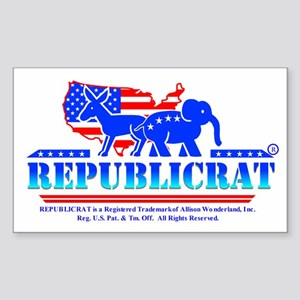 Republicrat Logowear Rectangle Sticker