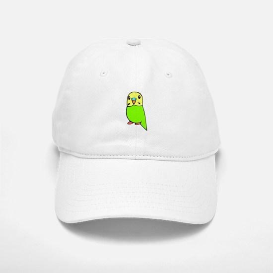 Cute Green Budgie Baseball Baseball Cap