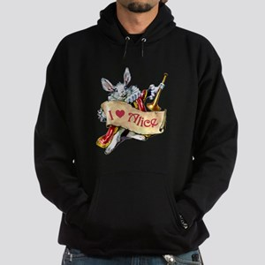 I LOVE ALICE - BLUE EYES Hoodie (dark)