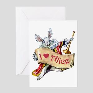 I LOVE ALICE - BLUE EYES Greeting Card