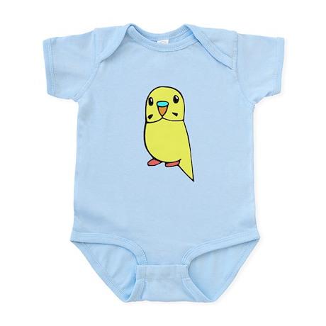 Cute Yellow Budgie Infant Bodysuit