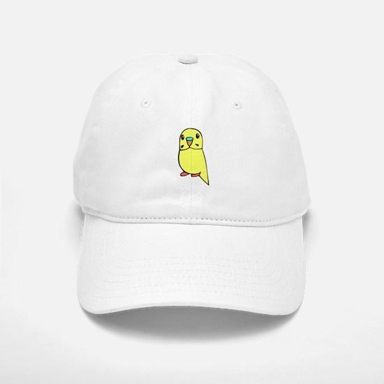 Cute Yellow Budgie Baseball Baseball Cap