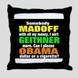 the bailout boys Throw Pillow