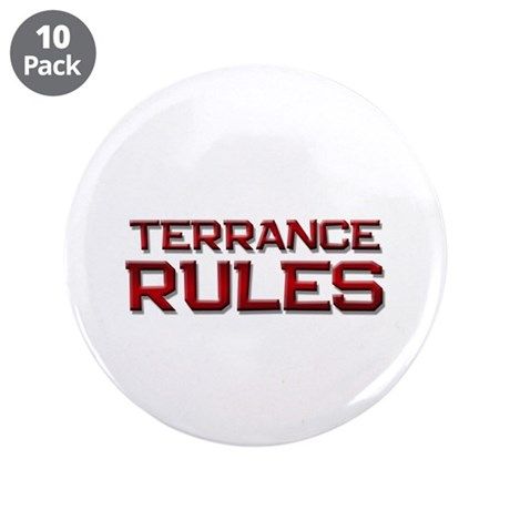 "terrance rules 3.5"" Button (10 pack)"